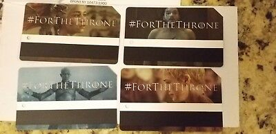 Game Of Thrones NYC MTA MetroCard Limited Edition Complete Set (4)
