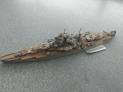 1/1200 scale WWII Battleship USS MISSISSIPPI 1944