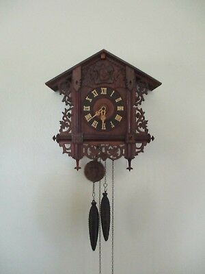 Antique Large Cuckoo Clock Working