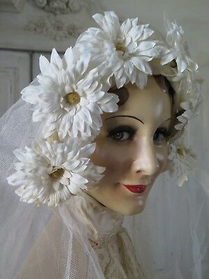 French Vintage 20s bridal Milinery flower wreath - Braut Blütenkranz  - SHABBY