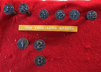 New York Long Branch  RAILROAD DATE NAIL COLLECTION.