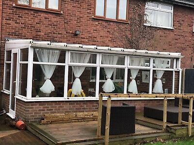 used white upvc lean to large conservatory