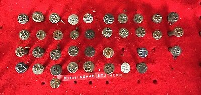 Birmingham Southern RAILROAD DATE NAIL COLLECTION.