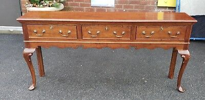 20th Century Reproduction Cherry Queen Anne Dining Room Sideboard Hallway Table