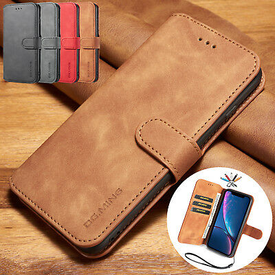 For iPhone 8 7 Plus 6s Case Card Holder Magnetic Premium PU Leather Wallet Cover