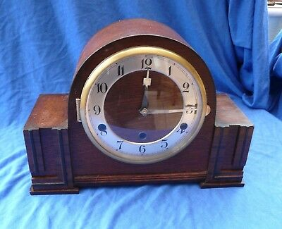 Art Deco Westminster chime Clock - Serviced and Working order