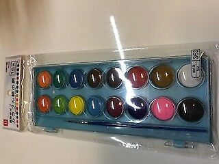 Colorful paint 16 color set with brush