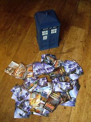 Job Lot Of Doctor Who Battles In Time Cards With Tardis Card Holder: Daleks,etc'