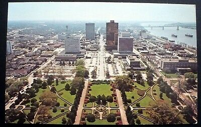 1960s Aerial view of Baton Rouge and Capitol Gardens, Louisiana