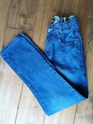 Boys mini Boden jeans with adjustable waist in age 9 years
