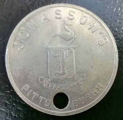 Vintage Jonasson's Credit Charge Card Token ~ Pittsburgh, PA
