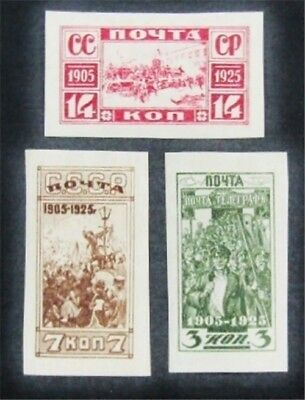 nystamps Russia Stamp # 336-338 Mint OG H/NH $40