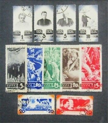 nystamps Russia Stamp # 540-550 Used $92