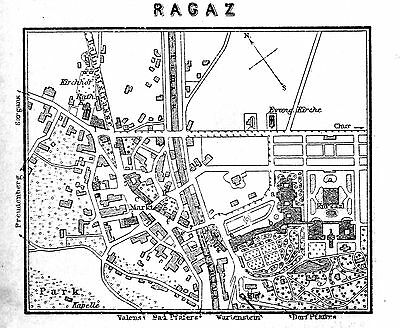 RAGAZ, alter Stadtplan, datiert 1901