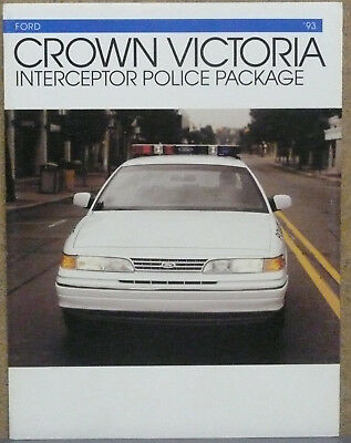 1993 Ford Crown Victoria Police Brochure