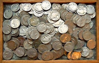 "LOT OF 230 ""NO DATE"" BUFFALO NICKELS (5 Photos)"