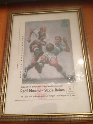 Framed Canvas Print Of 1959 European Cup Final - Real Madrid V Stade Reims