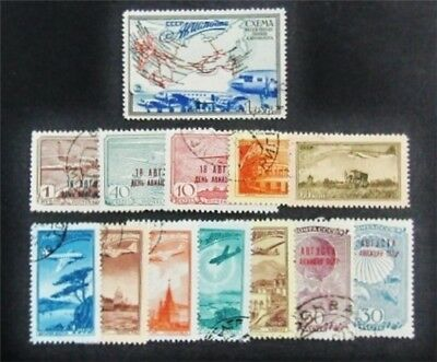 nystamps Russia Stamp # C76//C90 Used $35