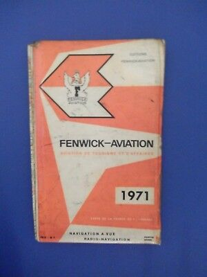 FENWICK AVIATION Carte Aviation de Tourisme et d'Affaires France 1971