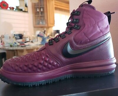 23438a86a26 MENS SIZE 9.5 NIKE LUNAR FORCE 1 Duckboot '17 Leather Shoes 916682-601 LF1  New