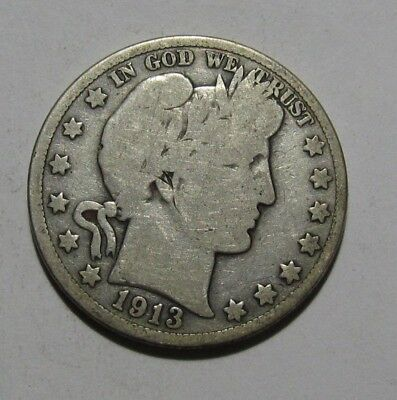 1913 Barber Half Dollar - Very Good Condition - 143SA