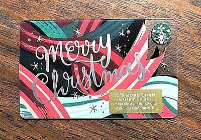 "Starbucks Gift Card 2018 NEW ""Merry Christmas"" Snow Cheer Holiday No $ Value"