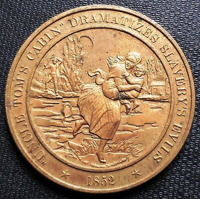 1852 Uncle Tom's Cabin Large Medal - Bronze - Diameter: 45mm