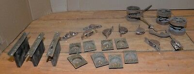 Antique 1800's Tokio bronze sliding pocket door pulls hardware Sargent & Co lot