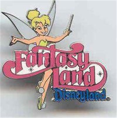 TINKER BELL Waving HER WAND LAND SERIES FANTASYLAND 2002 DLR DISNEYLAND PIN