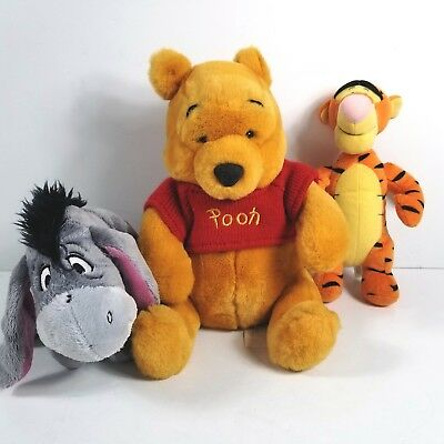 Winnie the Pooh, Tigger and Eeyore Soft Plush Bundle Disney Store Fisher Price