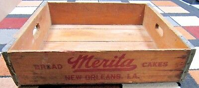 Vintage 1952 Merita Bakery New Orleans BREAD CAKES Delivery Truck Salesman Tote