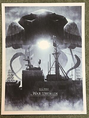 H.G. Wells The War Of The Worlds Movie Art Print Poster Mondo Daniel Taylor Rare