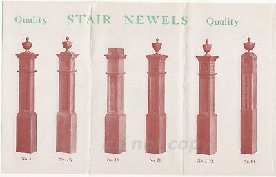 Iroquois Door Buffalo NY Arts & Crafts Stair Newel Post Vintage Brochure
