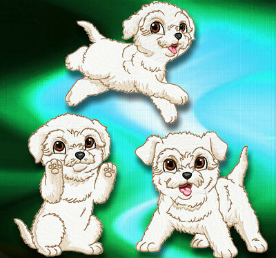 Cute Baby Bichon Frise 10  MACHINE EMBROIDERY DESIGNS CD 3 SIZES