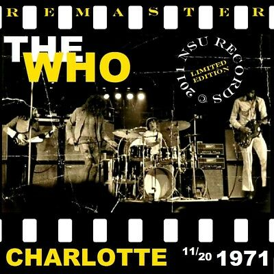 The Who Live In Charlotte, N.c. November 20Th ,1971 Ltd 2  Cd