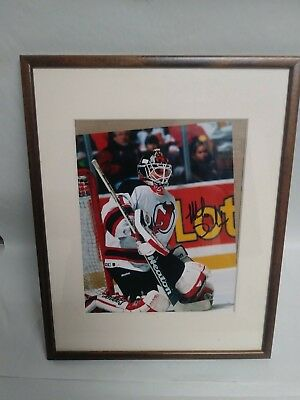 Framed 8 X 10 New Jersey Devils Martin Brodeur Hockey Signed Autographed Photo