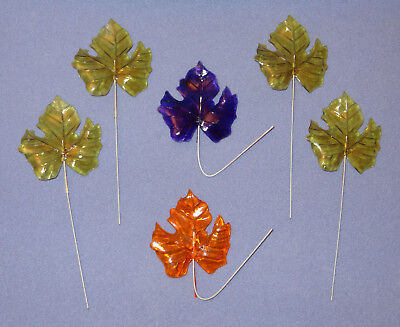 Vintage Lucite Acrylic LEAVES for Flowers Wires Mod Retro SSCO Hong Kong 1960s