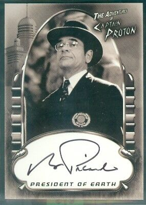 Star Trek Voyager Complete ( PA5 ) Robert Picardo as Pres of Eart Autograph Card