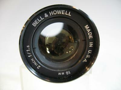 Vintage Bell & Howell 16MM Projection Lens 2 Inch f/1.6 Made in USA #86