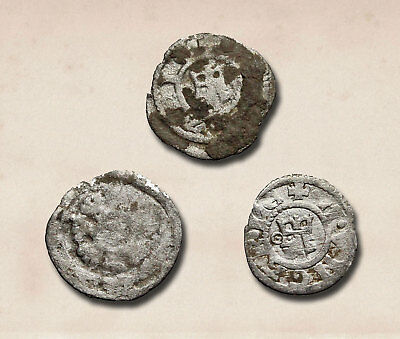 HUNGARY. Lot of 3 early denars, various types, c. 1100-1300's