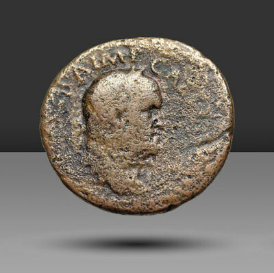 Galba. AD 68-69. Æ As. Rome mint. Struck circa December AD 68.