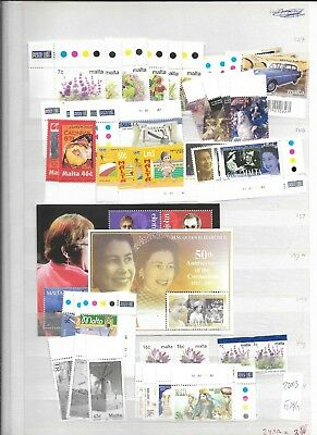 2003 MNH Malta jaargang/year collection almost complete, postfris**