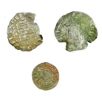 Group Lot of 3 Silver Medieval Coins Exact Lot Shown - 4547