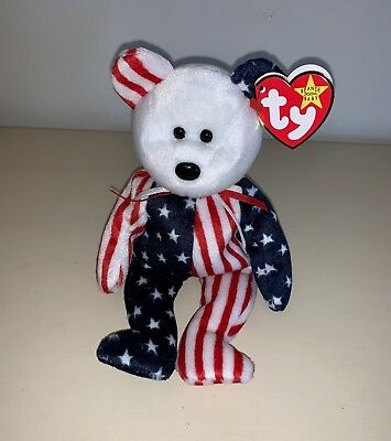 """Ty Beanie Babies Spangle 1999, Swing Tag Error Extra Space After """"be & !...be !"""