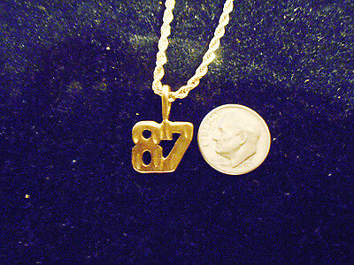 bling gold plated game fashion number 87 pendant charm hip hop necklace JEWELRY