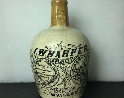 1864 New Orleans Cotton Centennial I.W. Harper Advertising Whisky Jug/Stoneware