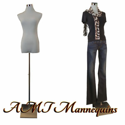 Female mannequin for pants, dress form+1 black nylon cover, white torso-F-5