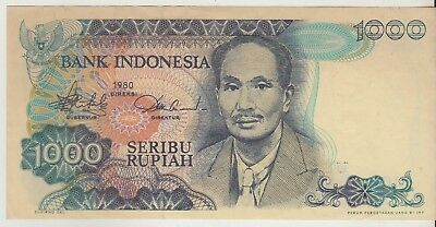 Indonesia 1000 Rupiah 1980 Issue Banknote Pick: 119 in XF++