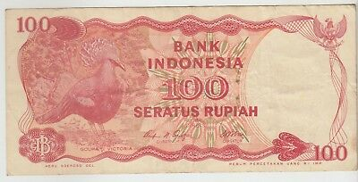 Indonesia 100 Rupiah 1984 Issue Banknote Pick: 122 in XF