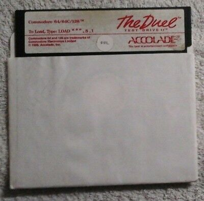 """Org. Diskette: Test Drive II: The Duel by Accolade"""" für C64 / C12"""